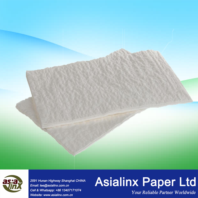 Medical Low Lint Tissue Cotton Thread Reinforced Cleaning Wipe