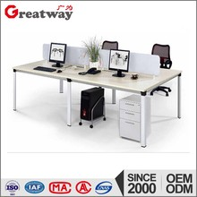 Beautiful design modern metal steel table leg for 4 person workstation