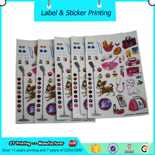 New style kids playing cartoon label toy custom stickers