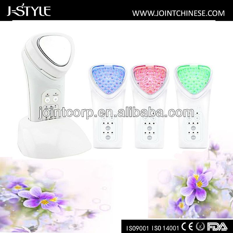 J-style Newest Home-Use Multifunctional Galvanic Ion Photon 3-IN-1 handheld Beauty Device