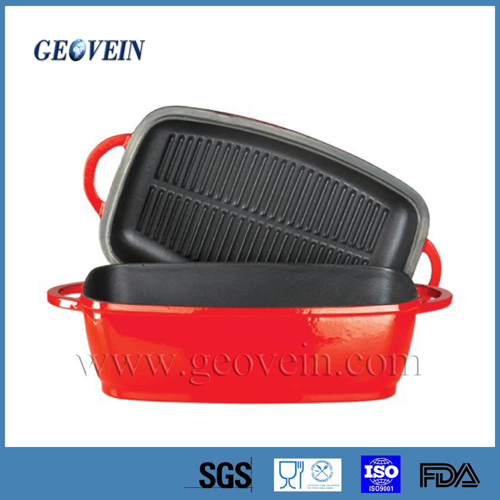 Cast Iron Enamel Covered Loaf Pan