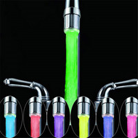 24mm Water Stream LED Faucet light with 7 colors jump change