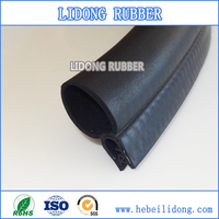 Extrusion rubber and steel strip automotive weather stripping