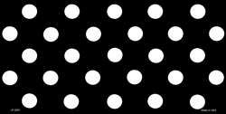 White Polka Dots Black Background Customizable Wholesale Metal Novelty License Plate Tag Sign