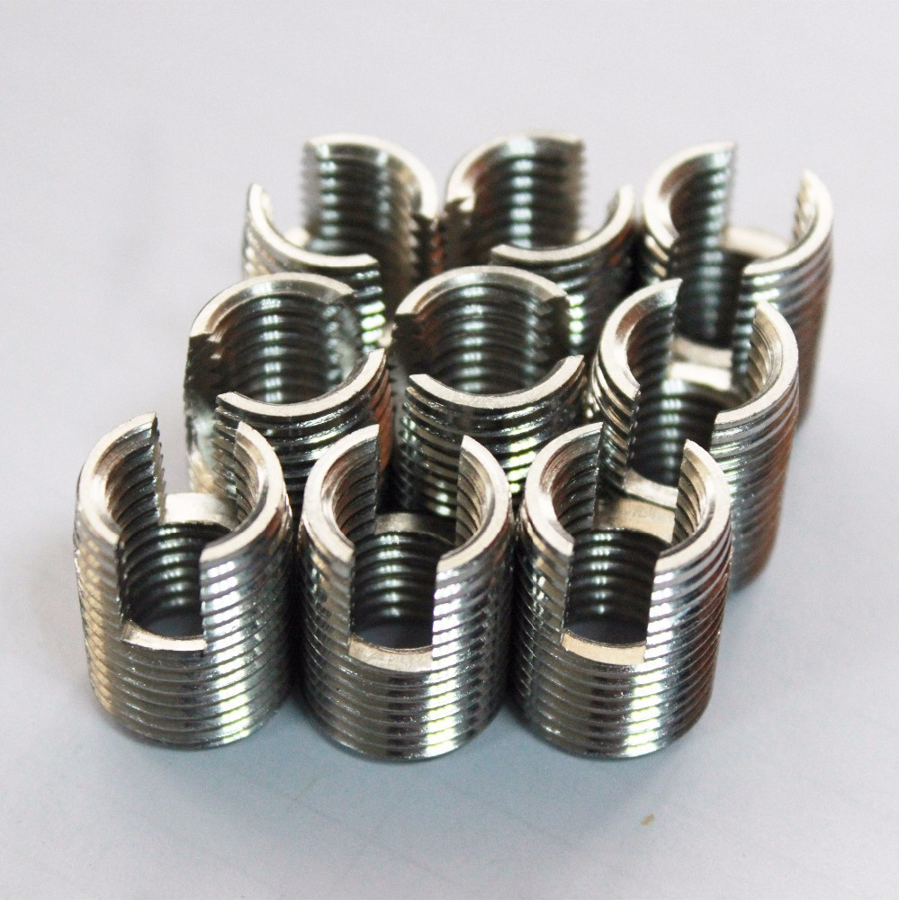 <strong>M10</strong>-18mm spark plug inserts self-tapping with cutting slot for Cast iron products