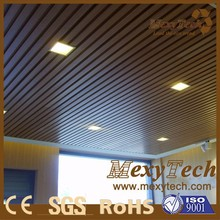 Modern indoor house roof Wood Plastic Composite Ceiling Design