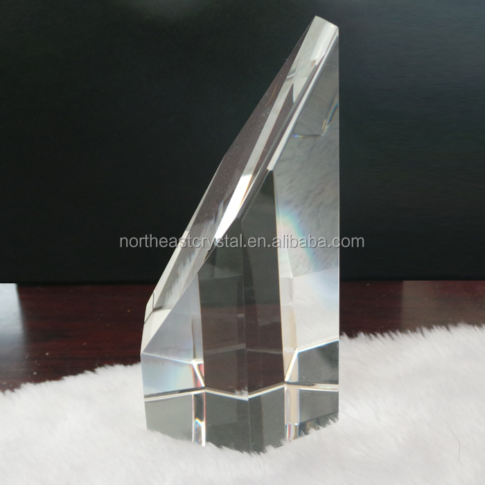 Diamond Column 3D Laser Etched Glass Cube