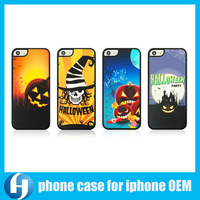 Wholesale OEM Factory Halloween Decorative Custom Design Mobile Phone Cover Case for iPhone 4 5 6 plus
