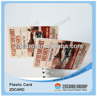 Folded Plastic PVC Business Cards
