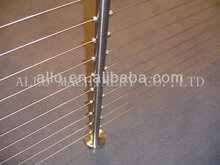 stainless steel balustrade post aluminum wire railing casted iron staircase parts