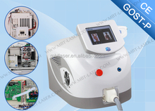 Continuous Work 24 Hours Handle In Freezing / Painless Handle with Big Spot Size And Small Size Siode Laser 808 Hair Removal