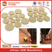 strong adhesive floor protectors /chair leg pad/cork floor protection