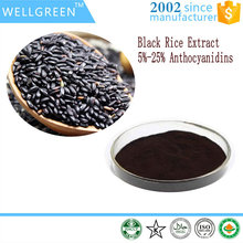 Food grade supplement Black Rice Extract 25% Anthocyanidins