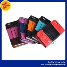 for iPhone 4 leather case with holder for stylus