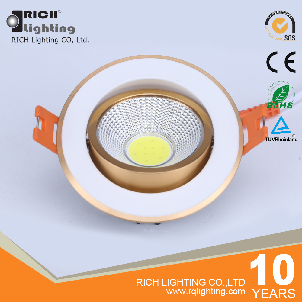 Die casting aluminum alloy led light high lumen 5W LED ceiling spotlight down lights