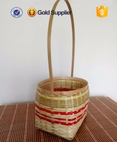 cheap price rectangular bamboo vegetable basket with handle