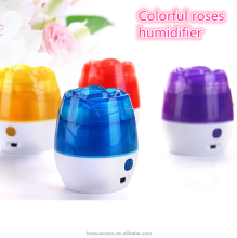 150ML LED Plastic Ultrasonic USB Mini Air Rose Humidifier
