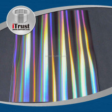 Cheap customer seamless rainbow window filmand holographic plastic film bopp film for lamination