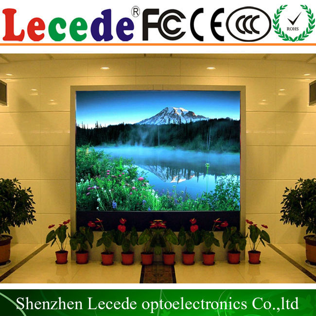 P4 Lecede full color indoor led screen/led video wall custom made backlight led panel for meter lcd display