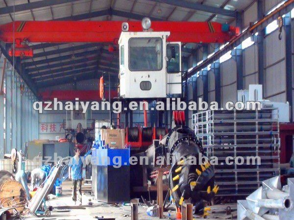 Mechanical dredger hydraulic cutter suction