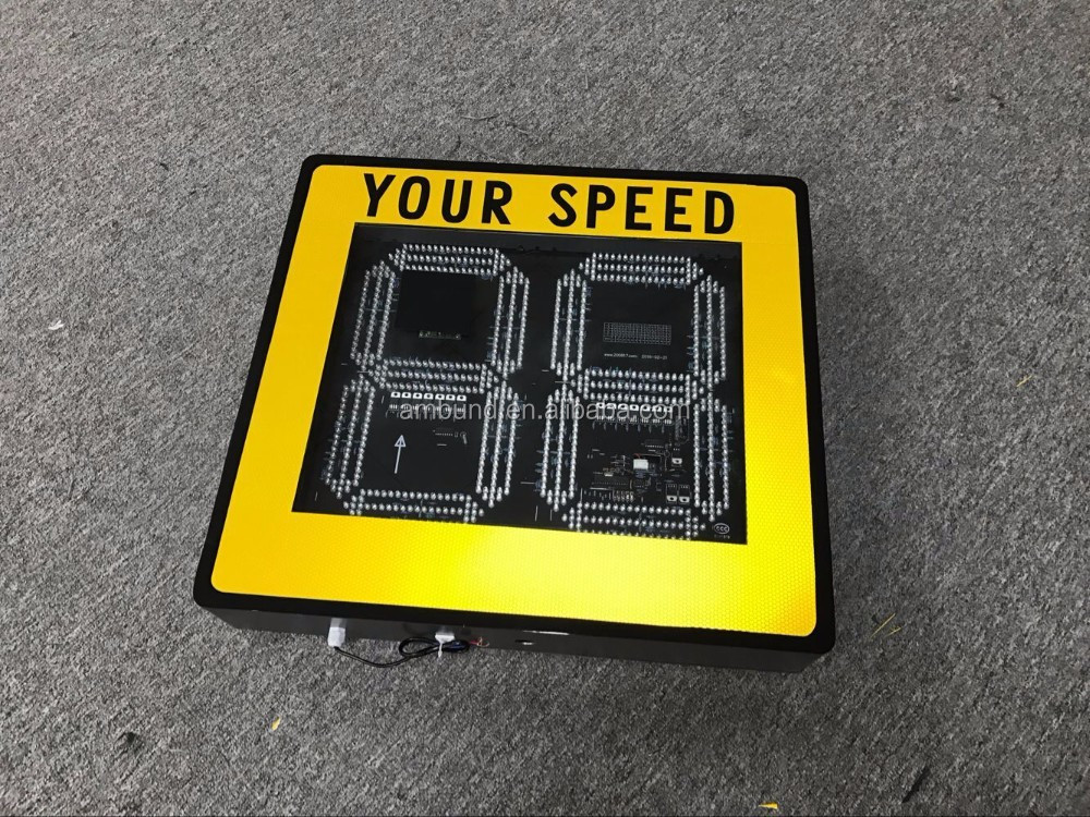Traffic Highway Radar Display Sign Radar Speed Limit Sign