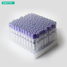 High quality PET lavender color disposable vacuum blood collection tube