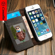 2016 New Product Jean Wallet Case for IPhone 5,for IPhone 5s Cover,for iPhone Se Cell Case
