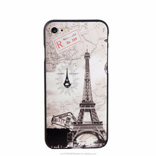 3D Stereo Relief Eiffel Tower Map Design PU Cover Case For iPhone 7 <strong>Protecter</strong>