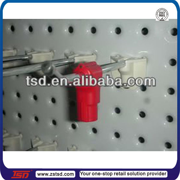 TSD-L030 china factory magnetic stop lock for supermarket hook/hook lock display stand/emergency stop lock
