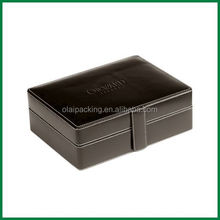classical debossed logo leather Watch box/customize leather watch case