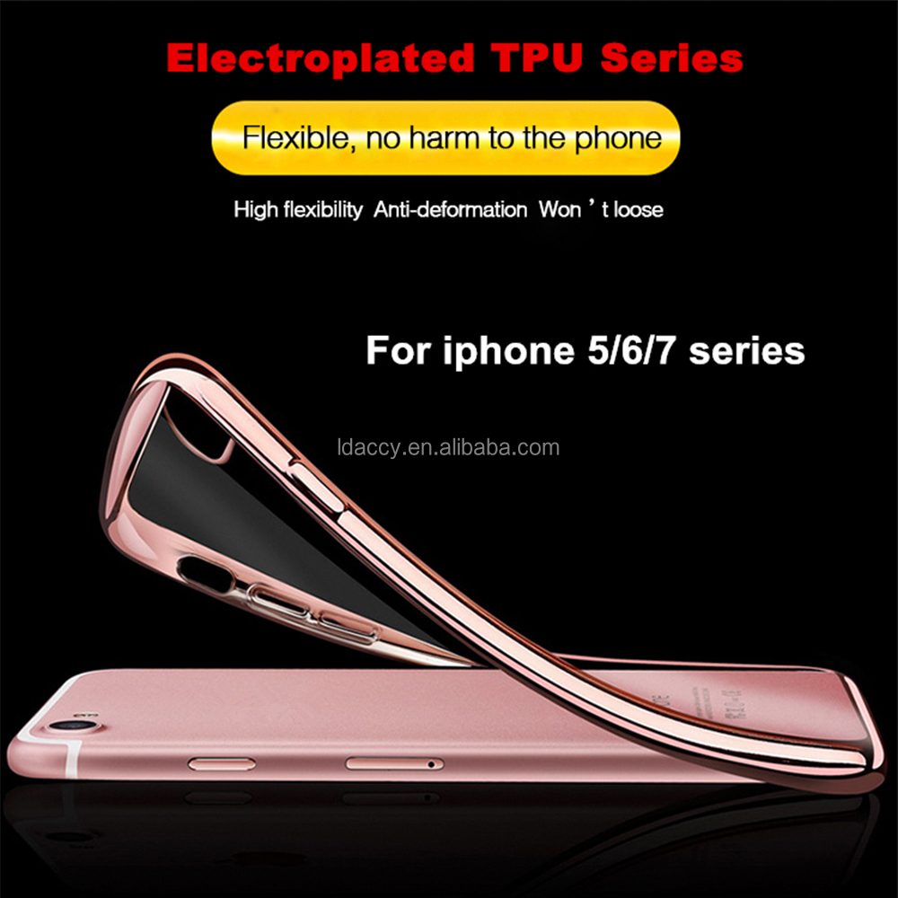 tpu case for iphone electroplating tpu phone case cover with factory price