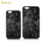 Hot selling all-inclusives TPU Soft edge hard PC back cover forged carbon fiber mobile phone case for iPhone 6 plus