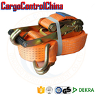 EB1057 Ratchet Tie Down With Double J Hook Lashing Strap