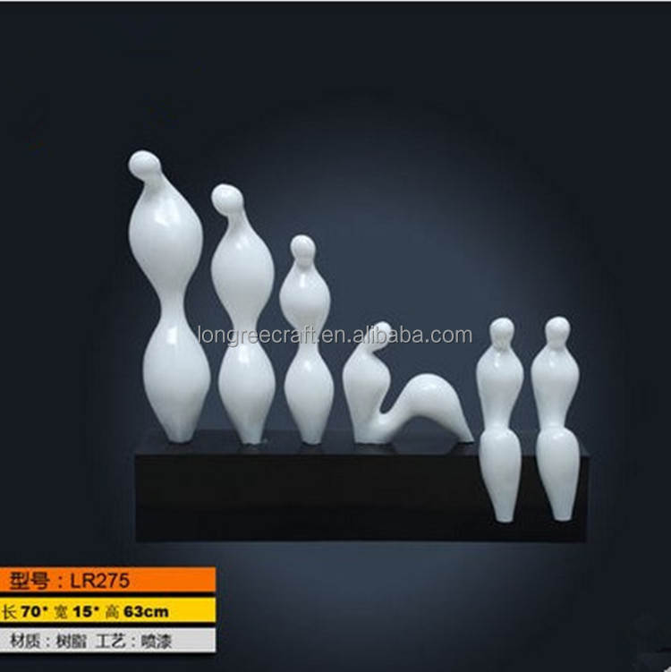 White abstract sculpture resin crafts creative home accessories sculptures character study fashion decoration