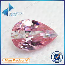 Pear Cut Pink And White Synthetic Stone Subsection Color CZ