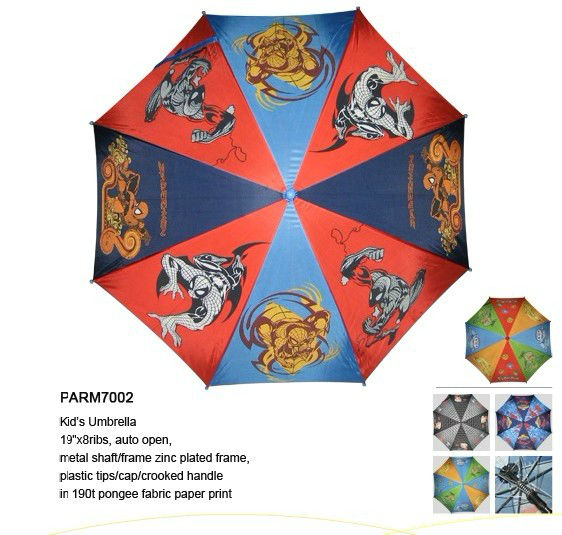 Allover Printing Cartoon Picture Kid's Umbrella/Straight Children Umbrella