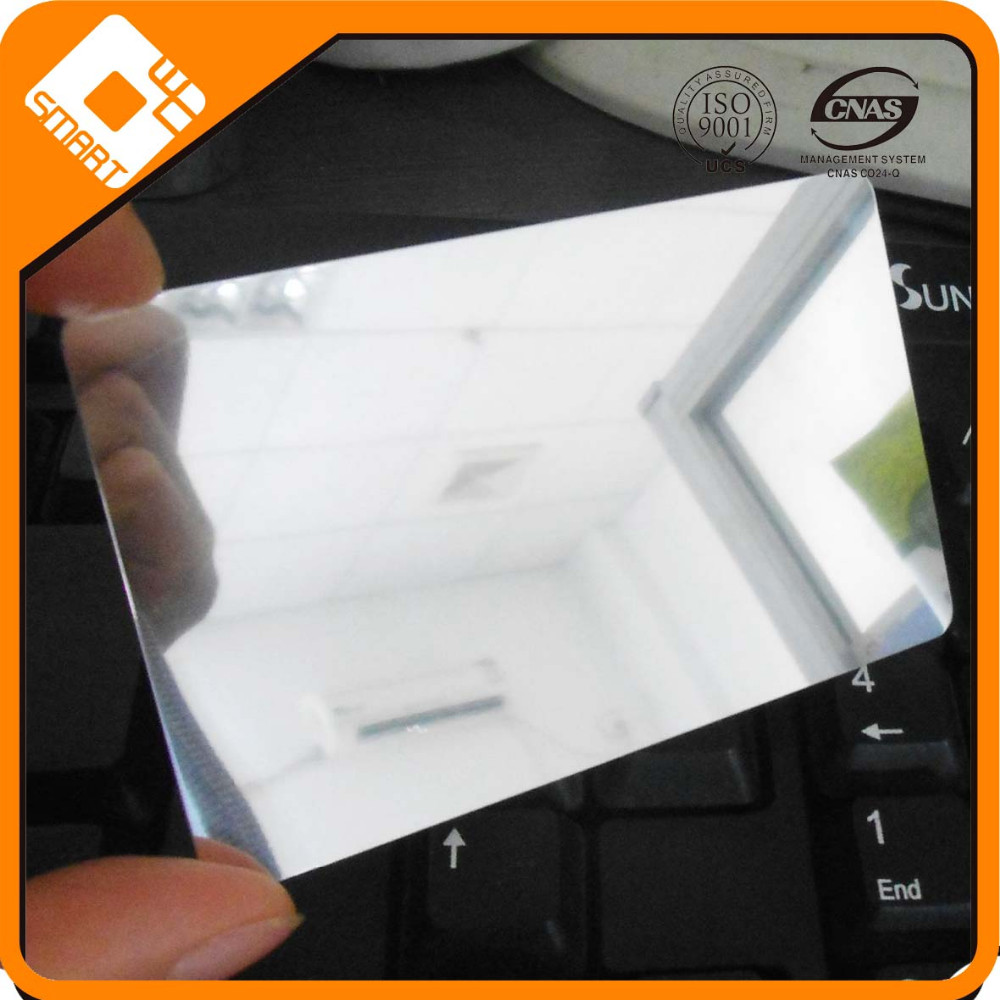 Cmyk Offset Printing Plastic Pvc Mirror Laser Business Card - Buy ...