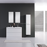 Double Sinks Free Standing Luxury White Wood Modern Bathroom Cabinets