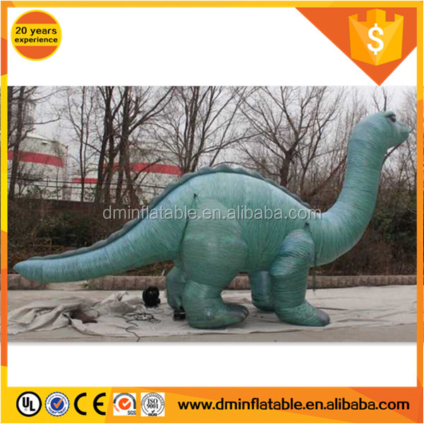 Inflatable 12ft dino inflatable green for sale,inflatable replica for sale