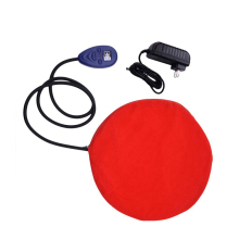 Round Waterproof and Chew Resistant 12V Pet Heated Bed Dog Heating Pad