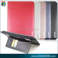 china supplier portable folding flip leather case for ipad Air tablet