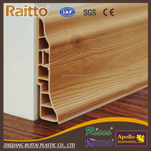PVC Floor Skirting Board with wooden color