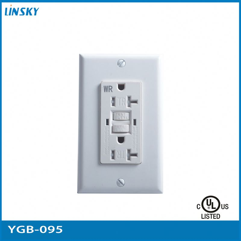 2015 version UL CUL listed 125V Nema 5-20a GFCI tamper resistant wall outlet Socket Breaker