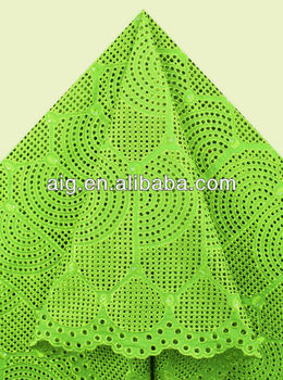 African Swiss Voile Lace Fabric,100% Cotton Lace,2804 Armygreen