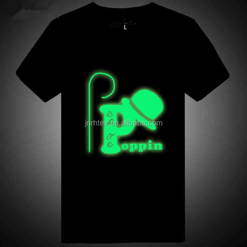 Eco-friendly custom 2015 new cotton led light up t-shirts for promotion