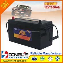 High Cranking Power 12V 100Ah Lead Acid Car Battery N100MF