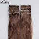 Top Quality 100% Virgin Ponytail Cuticle Aligned Double Drawn Hand-tied Tape Hair Extension Wholesale