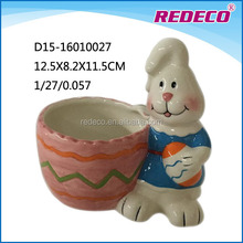 Fancy personalized easter decorative ceramic bowls with rabbit
