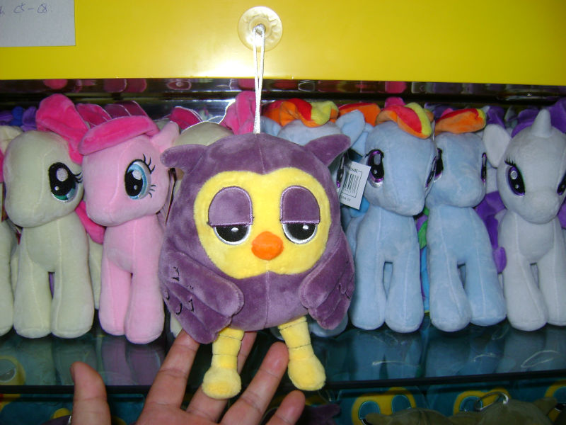18cm lovely customized purple plush night owl keychain toy with plastic sucker