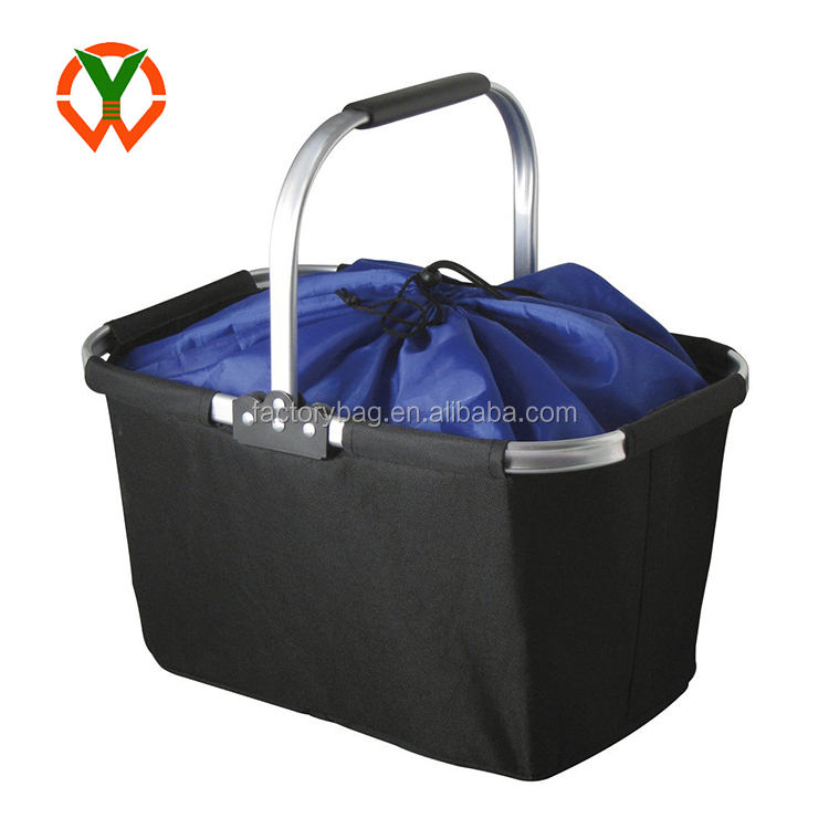 Collapsible Market Basket Reusable Grocery Shopping Bag Picnic Tote